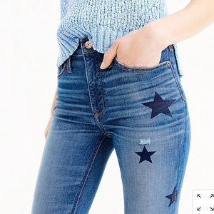 J Crew Billie Demi-boot Crop Jean: Star Edition